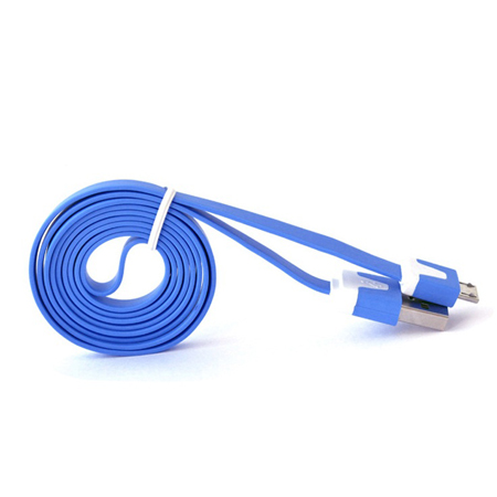 Colored noodle style USB to Micro USB charge cable for Samsung