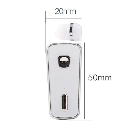 V6 Retractable earphone bluetooth music receiver with clip