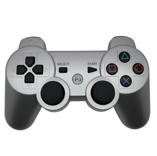 PS3 Bluetooth handle silver appearance