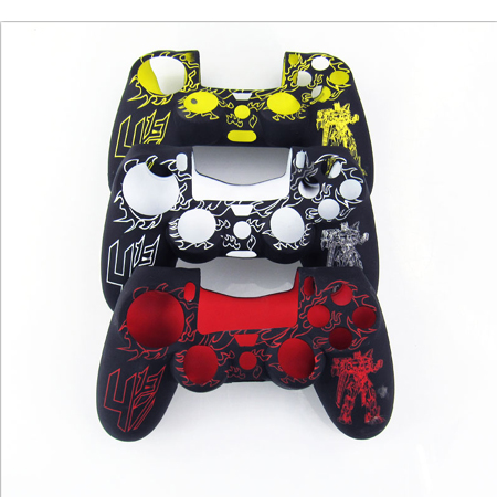 Silicone Skin Case Cover for PS4 controller
